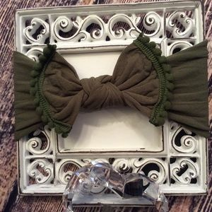 Other - Baby Girls Army Green Knit Bow Headband